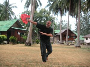Fächerform beim World Tai Chi & Chi Gong Day 2004 on Koh Tao