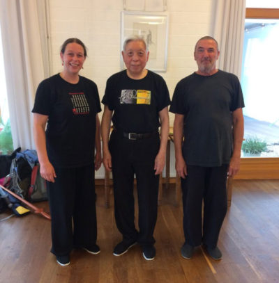Workshop mit Grandmaster Chen in Hannover 2018, links Judith van Drooge