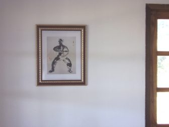 Taiji picture in the Here & Now guest room