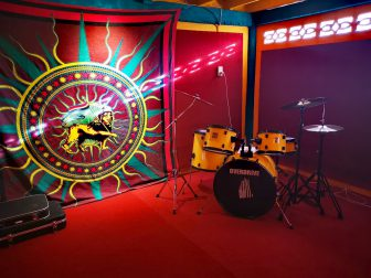 Drum-Set-in-the-Music-Room-at-Here-and-Now