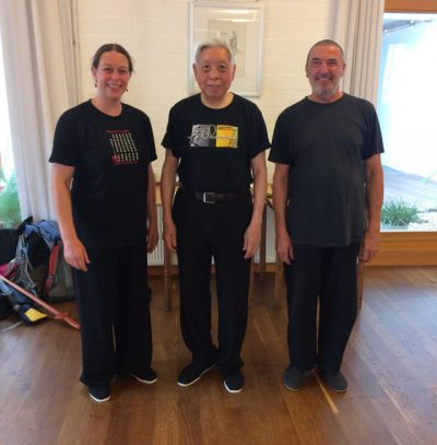 Grandmaster-William-C-C-Chen-with-Sifu-Martin-Rapp-and-Sifu-Judith-van-Drooge-in-Hannover-2018